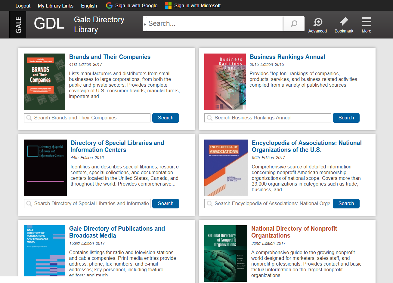 GALE DIRECTORY LIBRARY UNDERGOING SIGNIFICANT IMPROVEMENTS!