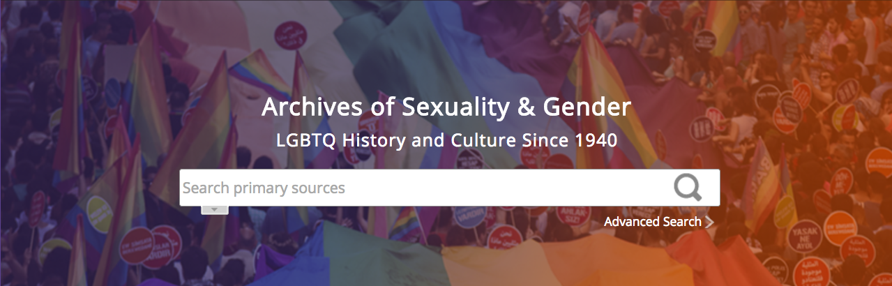 Archives of Sexuality & Gender named PROSE Award Winner for Best eProduct/Best in Humanities